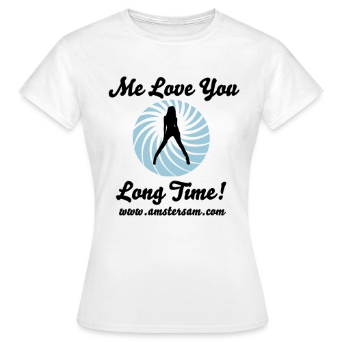 Women's Classic T-shirt 'Me love you long time!' Shirt White/Black - Women's T-Shirt