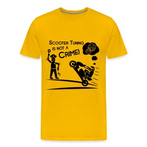 Scooter Tuning is not a Crime! FlexShirt HQ - Männer Premium T-Shirt
