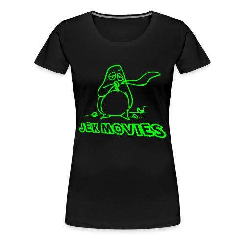 Girl Pinguin JekMovies Neongrün - Frauen Premium T-Shirt