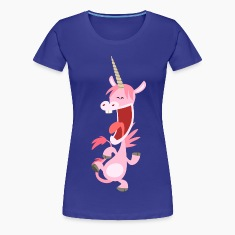 Cute Dancing Pink Cartoon Unicorn by Cheerful Madness!! T-Shirts