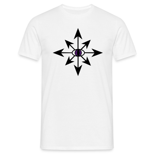 Chaosstern / Stern des Chaos mit Auge - Männer T-Shirt