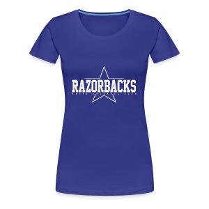 TS Razorbacks femme impression grey - T-shirt Premium Femme