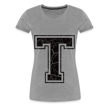 Letter t in grunge look t shirts t shirt spreadshirt for Cute greek letter shirts