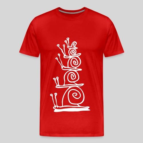 schnecken - Männer Premium T-Shirt