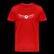 T-Shirts ~ Men's Premium T-Shirt ~ Banoop Logo with Wings - Mens T-Shirt - Red