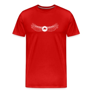 Banoop Logo with Wings - Mens T-Shirt - Red - Men's Premium T-Shirt