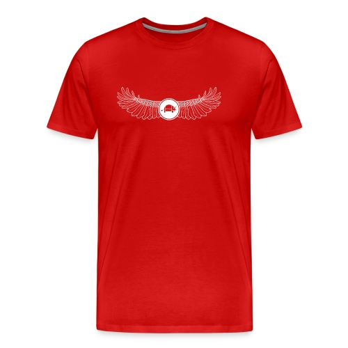 Banoop Logo with Wings - Mens T-Shirt - Red - Men's Premium T-Shirt