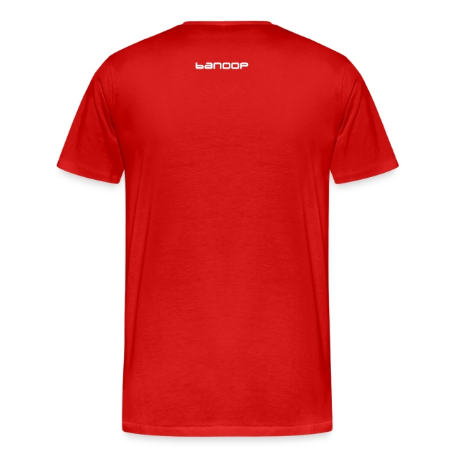 Banoop Logo with Wings - Mens T-Shirt - Red