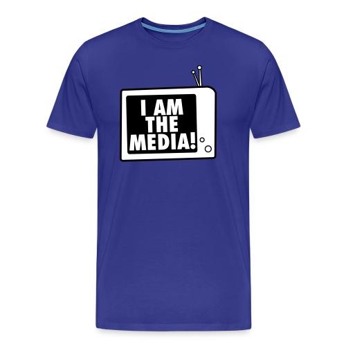 I AM THE MEDIA - men T (blue/white) - Männer Premium T-Shirt