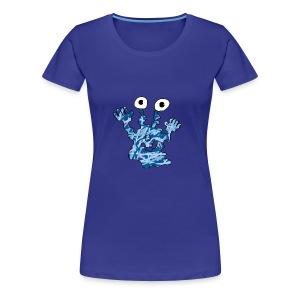 Blaues Monster für Frauen - Frauen Premium T-Shirt
