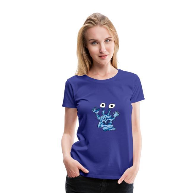 Blaues Monster für Frauen