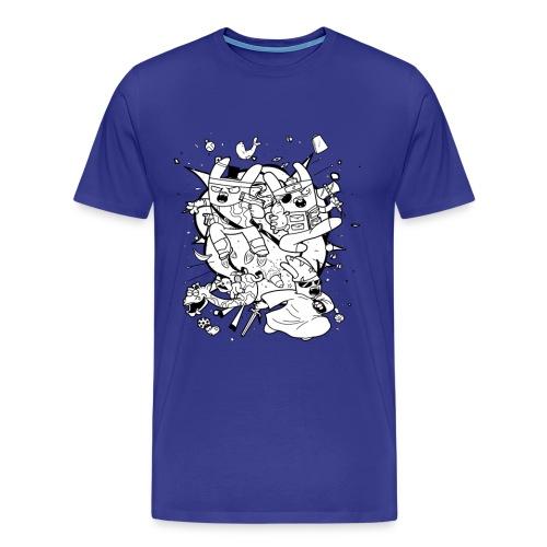 Action Bunnies - Men's Premium T-Shirt