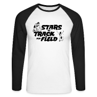 Long sleeve shirts ~ Men's Long Sleeve Baseball T-Shirt ~ Stars of Track and Field