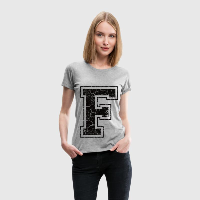 Letter F in the grunge look T-Shirts - Women's Premium T-Shirt