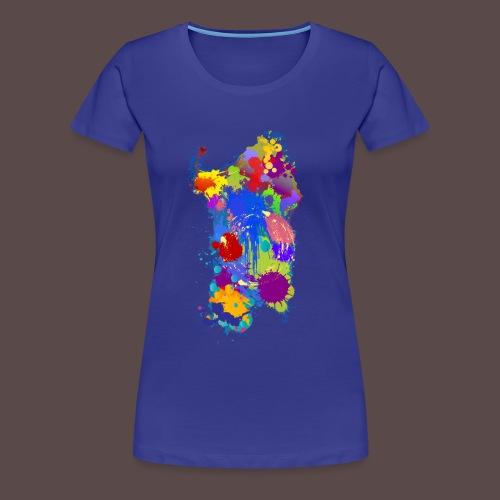 Sardegna, Silhouette Paint - donna - Maglietta Premium da donna