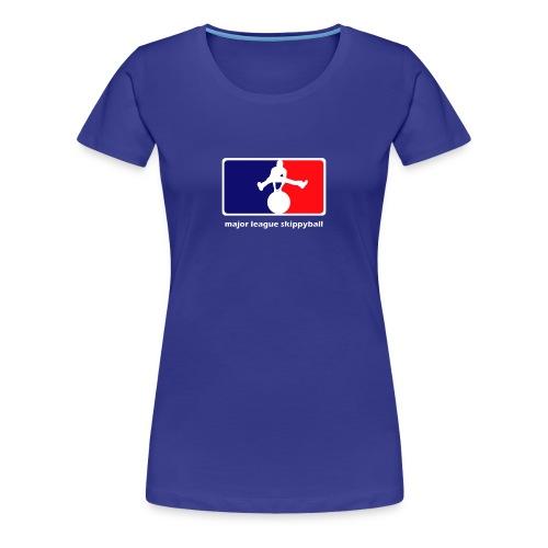 Major League Skippyball (dames) - Vrouwen Premium T-shirt