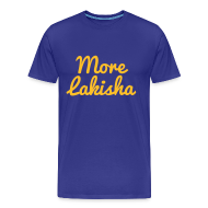 T-Shirts ~ Men's Premium T-Shirt ~ More Lakisha t-shirt yellow/blue