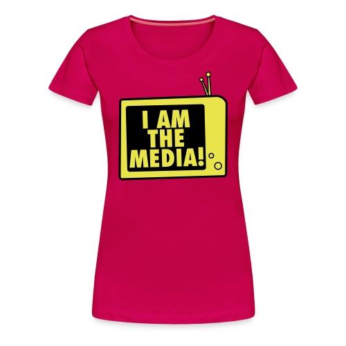 I AM THE MEDIA - women T (pink/yellow) - Frauen Premium T-Shirt