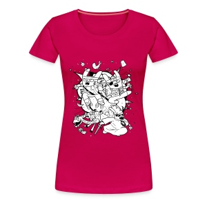 Action Bunnies - Women's Premium T-Shirt