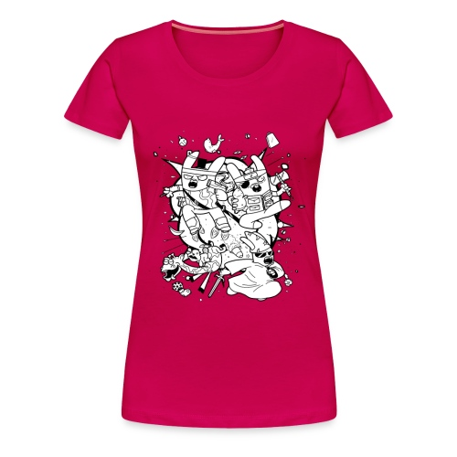 Action Bunnies - Women's Premium T-Shirt