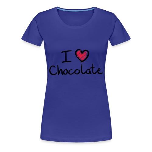 I ♥ Chocolate (Vrouwen) - Vrouwen Premium T-shirt