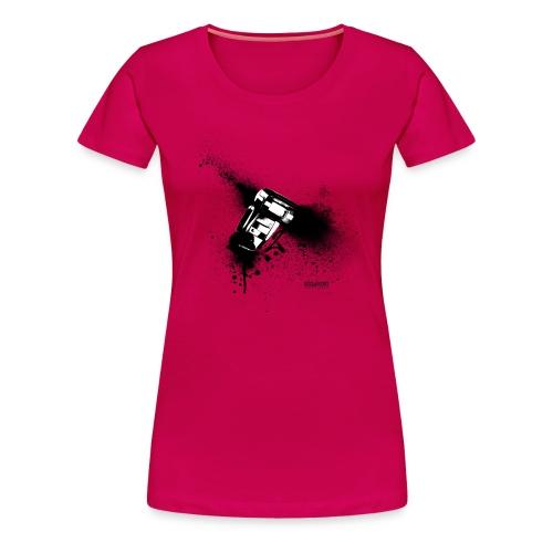 mlzwo.com . speedlite - street photography . girl - Frauen Premium T-Shirt