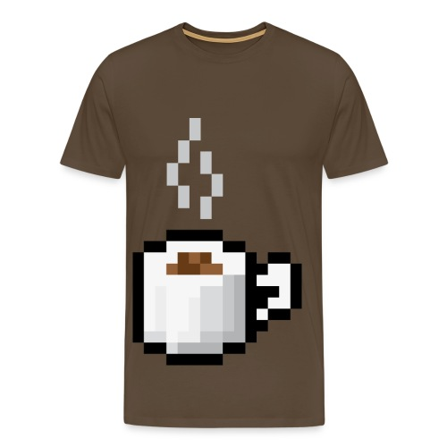 pixel coffee - Men's Premium T-Shirt