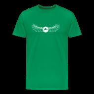 T-Shirts ~ Men's Premium T-Shirt ~ Banoop Logo with Wings - Mens T-Shirt -Khaki
