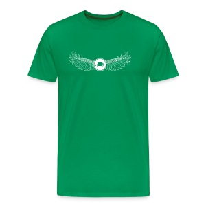 Banoop Logo with Wings - Mens T-Shirt -Khaki - Men's Premium T-Shirt