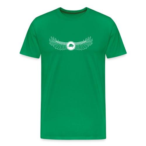 Banoop Logo with Wings - Mens T-Shirt -Khaki - Men's Premium T-Shirt