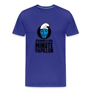 Propaganda Schtroumpfs pour Minute Papillon - T-shirt Premium Homme