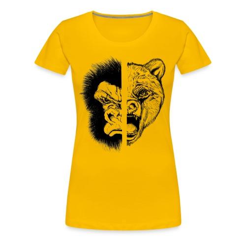 Gorilla Vs. Bear - Women's Premium T-Shirt
