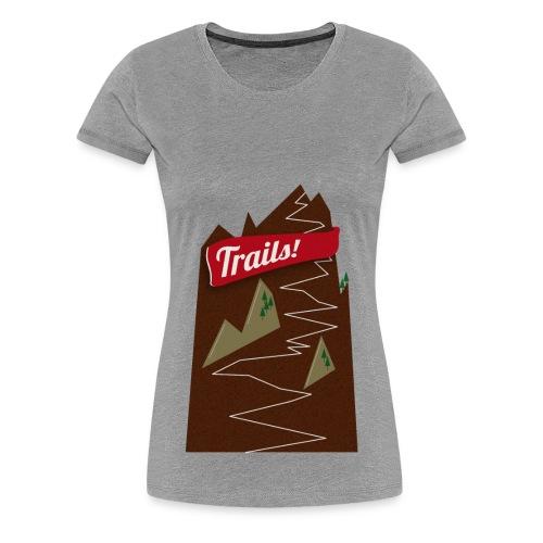 Trails! (Frauen) - Frauen Premium T-Shirt