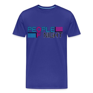 People Of Night Homme Bleu - T-shirt Premium Homme