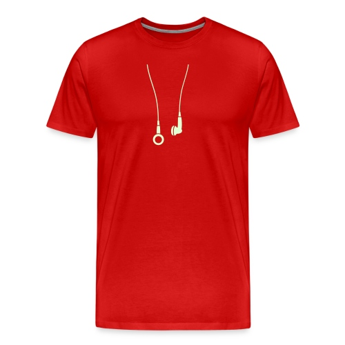 Headphones - Glow in the Dark - Men's Premium T-Shirt