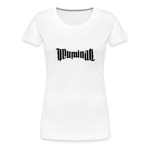 tee-shirt illuminati femme  - T-shirt Premium Femme