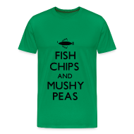 T-Shirts ~ Men's Premium T-Shirt ~ Fish Chips and Mushy Peas T-Shirt