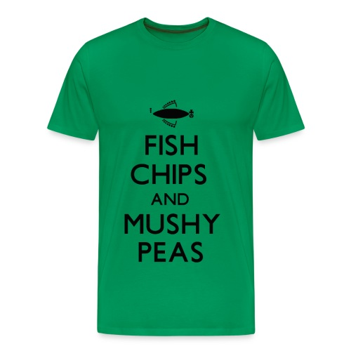Fish Chips and Mushy Peas T-Shirt - Men's Premium T-Shirt
