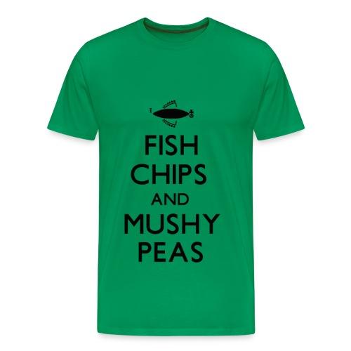Fish Chips and Mushy Peas T-Shirt - Men's Premium T-Shirt