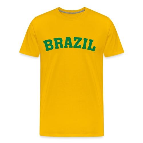 Brazil - Camiseta premium hombre