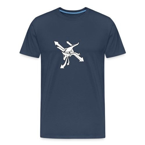 Abstract Arrows - blue - Männer Premium T-Shirt