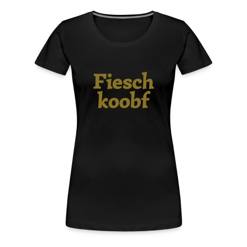 Grantl-Shirt Fieschkopf gold - Frauen Premium T-Shirt
