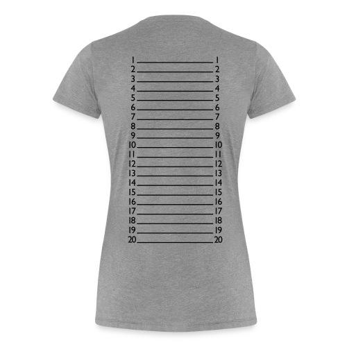 Dear Hair Length Check Shirt - Women's Premium T-Shirt