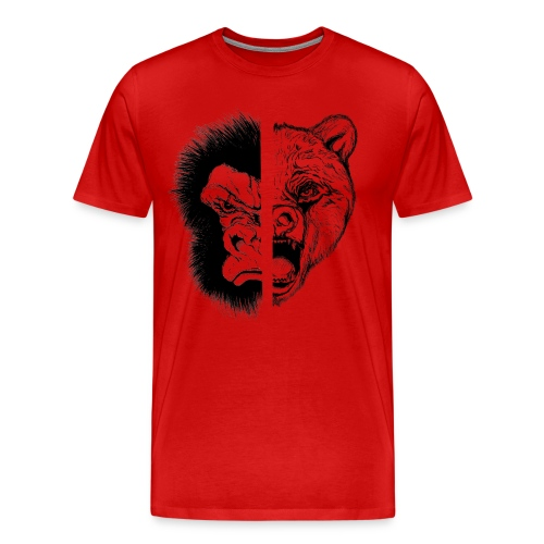 Gorilla Vs. Bear - Men's Premium T-Shirt