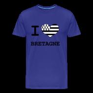 Tee shirts ~ T-shirt Premium Homme ~ La Bretagne j'aime
