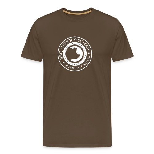 T-shirt met BBQ Genootschap Logo op de voorzijde - Mannen Premium T-shirt