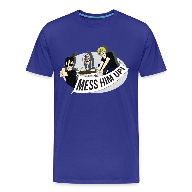 Mess Him Up! With Shadows (Men's) - Men's Premium T-Shirt
