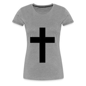 Cross heart - Vrouwen Premium T-shirt