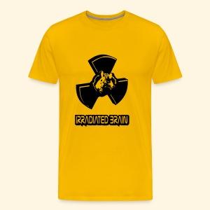Männer T-Shirt - irradiated brain - mouse - Männer Premium T-Shirt