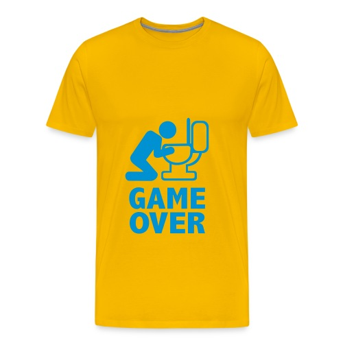 GAME OVER - Hellblau - Männer Premium T-Shirt